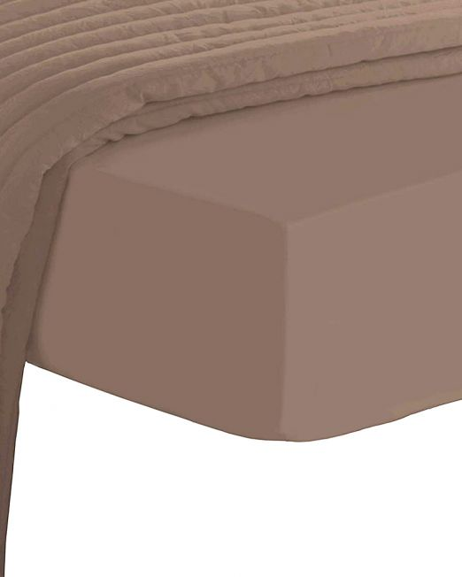 Egyptian cotton 300 thread count fitted sheet mocha 2
