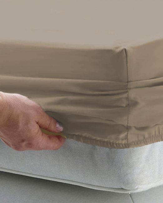 Egyptian cotton 300 thread count fitted sheet stone