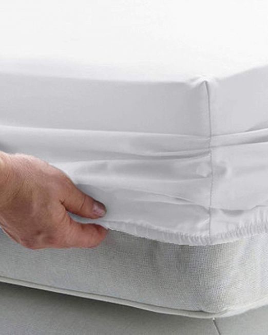 Egyptian cotton 300 thread count fitted sheet white
