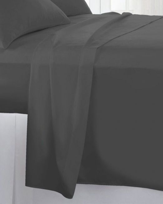 Egyptian cotton 300 thread count flat sheet grey