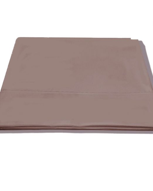 Egyptian cotton 300 thread count flat sheet mocha 2