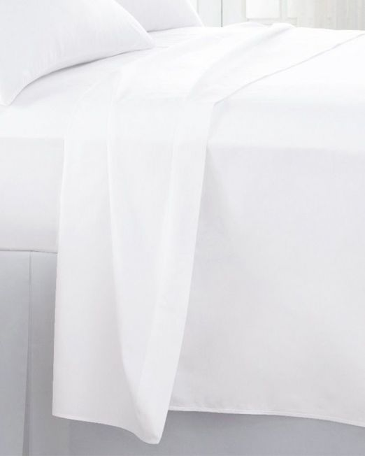 Egyptian cotton 300 thread count flat sheet white 2