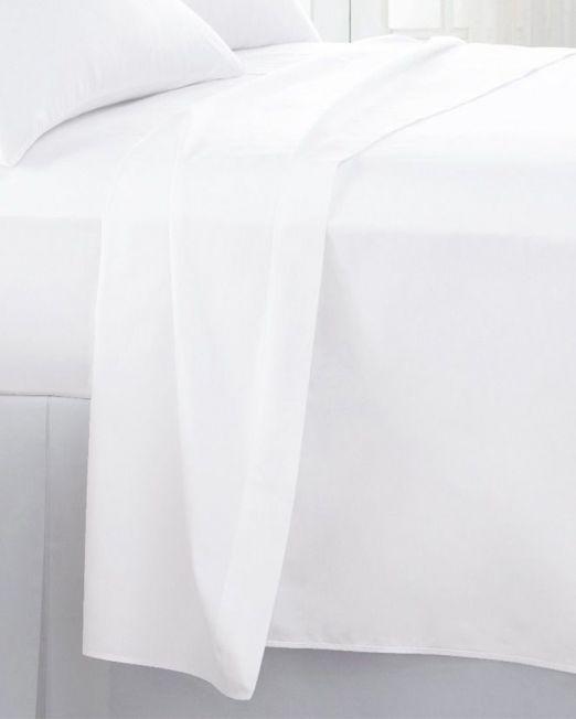 Egyptian cotton 300 thread count flat sheet white 2