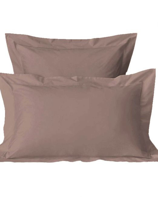 Egyptian cotton 300 thread count pillow cases mocha